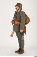 Austria-Hungary army uniform World War I. ver.1 - poses army poses with gun soldier standing uniform whole body 0002.jpg