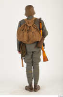 Austria-Hungary army uniform World War I. ver.1 - poses army poses with gun soldier standing uniform whole body 0005.jpg