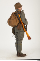Austria-Hungary army uniform World War I. ver.1 - poses army poses with gun soldier standing uniform whole body 0006.jpg