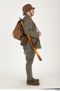 Austria-Hungary army uniform World War I. ver.1 - poses army poses with gun soldier standing uniform whole body 0007.jpg