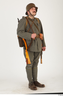 Austria-Hungary army uniform World War I. ver.1 - poses army poses with gun soldier standing uniform whole body 0008.jpg