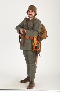Austria-Hungary army uniform World War I. ver.1 - poses army poses with gun soldier standing uniform whole body 0009.jpg