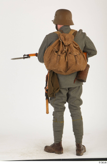 Austria-Hungary army uniform World War I. ver.1 - poses army poses with gun soldier standing uniform whole body 0012.jpg
