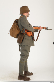 Austria-Hungary army uniform World War I. ver.1 - poses army poses with gun soldier standing uniform whole body 0014.jpg