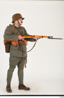 Austria-Hungary army uniform World War I. ver.1 - poses army poses with gun soldier standing uniform whole body 0015.jpg