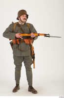 Austria-Hungary army uniform World War I. ver.1 - poses army poses with gun soldier standing uniform whole body 0016.jpg