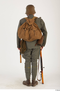 Austria-Hungary army uniform World War I. ver.1 - poses army poses with gun soldier standing uniform whole body 0021.jpg