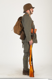 Austria-Hungary army uniform World War I. ver.1 - poses army poses with gun soldier standing uniform whole body 0023.jpg