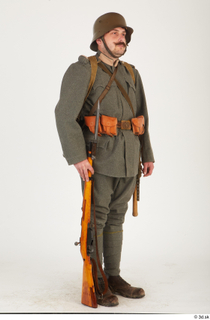 Austria-Hungary army uniform World War I. ver.1 - poses army poses with gun soldier standing uniform whole body 0024.jpg