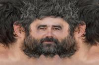 Man head premade texture 0004