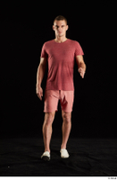 Max Dior  1 dressed front view red shorts walking white loafers whole body 0001.jpg