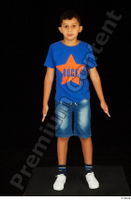 Timbo blue t shirt dressed jeans shorts standing white sneakers whole body 0001.jpg
