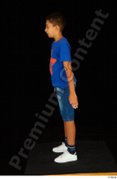 Timbo blue t shirt dressed jeans shorts standing white sneakers whole body 0003.jpg