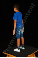 Timbo blue t shirt dressed jeans shorts standing white sneakers whole body 0004.jpg