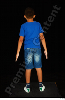 Timbo blue t shirt dressed jeans shorts standing white sneakers whole body 0005.jpg
