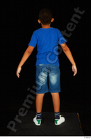 Timbo blue t shirt dressed jeans shorts standing white sneakers whole body 0010.jpg