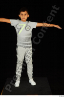 Timbo dressed grey joggers grey t shirt standing t poses white sneakers whole body 0001.jpg