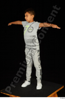 Timbo dressed grey joggers grey t shirt standing t poses white sneakers whole body 0002.jpg