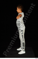 Timbo dressed grey joggers grey t shirt standing t poses white sneakers whole body 0003.jpg