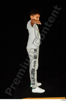 Timbo dressed grey joggers grey t shirt standing t poses white sneakers whole body 0007.jpg