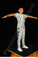 Timbo dressed grey joggers grey t shirt standing t poses white sneakers whole body 0008.jpg