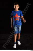 Timbo  1 blue t shirt dressed jeans shorts walking white sneakers whole body 0001.jpg