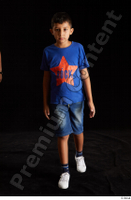 Timbo  1 blue t shirt dressed jeans shorts walking white sneakers whole body 0002.jpg