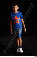 Timbo  1 blue t shirt dressed jeans shorts walking white sneakers whole body 0003.jpg