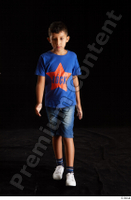 Timbo  1 blue t shirt dressed jeans shorts walking white sneakers whole body 0004.jpg