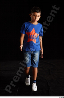 Timbo  1 blue t shirt dressed jeans shorts walking white sneakers whole body 0005.jpg