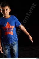 Timbo  1 arm blue t shirt dressed flexing front view 0003.jpg