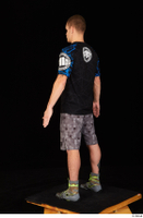 Max Dior black t shirt boxing shoes dressed grey shorts standing whole body 0004.jpg