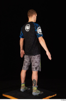 Max Dior black t shirt boxing shoes dressed grey shorts standing whole body 0006.jpg