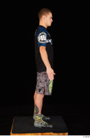 Max Dior black t shirt boxing shoes dressed grey shorts standing whole body 0007.jpg