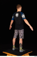 Max Dior black t shirt boxing shoes dressed grey shorts standing whole body 0014.jpg