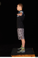 Max Dior black t shirt boxing shoes dressed grey shorts standing t poses whole body 0003.jpg