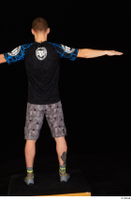 Max Dior black t shirt boxing shoes dressed grey shorts standing t poses whole body 0005.jpg