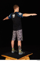 Max Dior black t shirt boxing shoes dressed grey shorts standing t poses whole body 0006.jpg