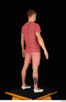 Max Dior casual dressed red shorts red t shirt standing white loafers whole body 0006.jpg