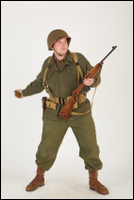 U.S.Army uniform World War II. - Technical Corporal - poses