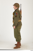 U.S.Army uniform World War II. - Technical Corporal - poses american soldier standing uniform whole body 0003.jpg