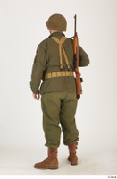 U.S.Army uniform World War II. - Technical Corporal - poses american soldier standing uniform whole body 0004.jpg