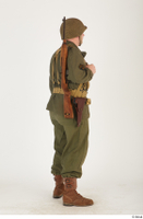U.S.Army uniform World War II. - Technical Corporal - poses american soldier standing uniform whole body 0006.jpg