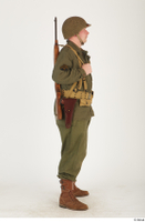 U.S.Army uniform World War II. - Technical Corporal - poses american soldier standing uniform whole body 0007.jpg