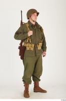 U.S.Army uniform World War II. - Technical Corporal - poses american soldier standing uniform whole body 0008.jpg