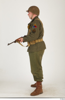 U.S.Army uniform World War II. - Technical Corporal - poses american soldier standing uniform whole body 0011.jpg