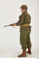 U.S.Army uniform World War II. - Technical Corporal - poses american soldier standing uniform whole body 0012.jpg