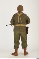 U.S.Army uniform World War II. - Technical Corporal - poses american soldier standing uniform whole body 0013.jpg