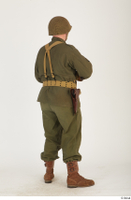 U.S.Army uniform World War II. - Technical Corporal - poses american soldier standing uniform whole body 0014.jpg