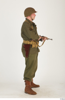U.S.Army uniform World War II. - Technical Corporal - poses american soldier standing uniform whole body 0015.jpg